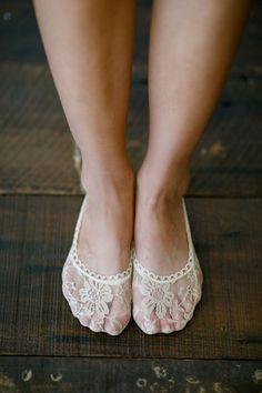 Lace Heels Socks, Toe Socks, Flats Lace Short Socks, Girly Lace Socks, Short Fashion Sock, Women's Floral All Lace Sock Ivory Khaki (BS-106) by ThreeBirdNest on Etsy