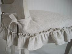 Shabby Chic Slipcover The Isabella Ruffled Linen Chair