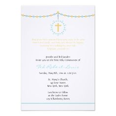 boy communion invitation | Boy First Communion Custom Invitations from Zazzle.com