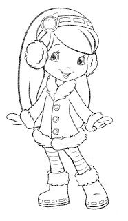 Blackberry with winter clothes Barbie Coloring Pages, Cute Coloring Pages, Coloring Pages For Girls, Coloring Sheets, Coloring Books, Disney Drawings, Cartoon Drawings, Descendants Coloring Pages, Strawberry Shortcake Coloring Pages