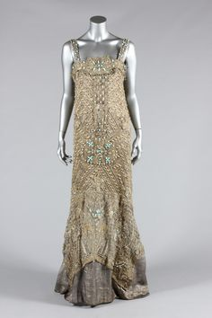 Fripperies and Fobs Evening dress ca. 1907
