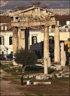 Gate of Athena Archegetis, 11 B.C., Athens, Greece Copyright: Arkadiusz Dudzinski