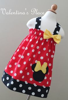 Minnie Mouse Halter style dress by Valentinasplace on Etsy