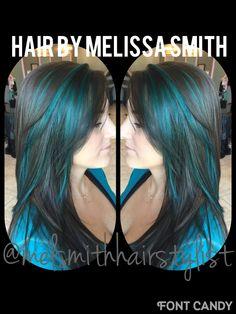 Teal hair / Joico fashion haircolor / Pensacola colorist / @melsmithhairstylist