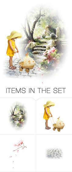 """""""Sweet moments of play.."""" by julidrops ❤ liked on Polyvore featuring art"""