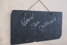 "9""x18"" Natural Slate Chalkboard - Gift Set of 2"
