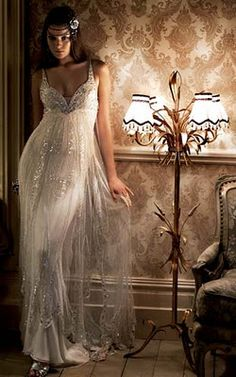 """Hello Future-Wedding-Dress-With-Crazy-Cleaveage-That-I-Will-Have-To-Cover-Up / Jenny Packham """"Papillon"""""""