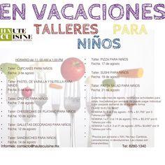 """""""Hay lugares para los #Talleres de #CocinaParaNiños, de la próxima semana, aprovecha e inscribe a tus pequeños. Mayores Informes: contacto@hautecuisine.mx Tel:6280-1340 #minichefs #vacaciones #vacacionesdeverano #Cursodeverano"""" Photo taken by @hautecuisinecookingschool on Instagram, pinned via the InstaPin iOS App! http://www.instapinapp.com (08/04/2015)"""