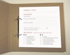 Einzigartiges Hochzeites-Gästebuch mit Fragen von feb-factory auf DaWanda.com