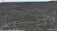 Redescubriendo a Puerto Rico: De San Germán a Lajas - La ruta del tren en Google Earth.