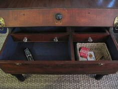 Recycled, Upcycled, Repurposed Carpenters Tool Box coffee Table