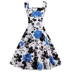 SHARE & Get it FREE | Square Neck Floral Print Sleeveless Pin Up DressFor Fashion Lovers only:80,000+ Items·FREE SHIPPING Join Dresslily: Get YOUR $50 NOW!