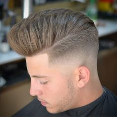 Mid Skin Fade with Modern Pompadour - Best Skin Fade Haircuts For Men: Cool Low, Mid, High Bald Taper Fade Haircuts For Guys Top Hairstyles For Men, Very Easy Hairstyles, Popular Short Hairstyles, Popular Haircuts, Hairstyles Haircuts, Haircuts For Men, Short Hair Lengths, Short Hair Styles, Low Skin Fade Haircut