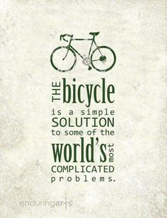 Get a cycle, seriously!