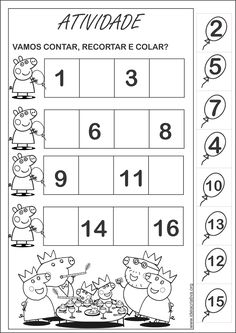 Rekenen met kleuters Peppa Pig Mais Montessori Activities, Kindergarten Worksheets, Worksheets For Kids, Infant Activities, Life Skills Lessons, Teaching Life Skills, Math For Kids, Kids Education, Math Centers
