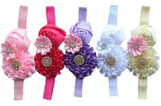 Qandsweet® Baby Girl's Cute Crystal Hair Bows (5Pack) -- Read more reviews of the product by visiting the link on the image.