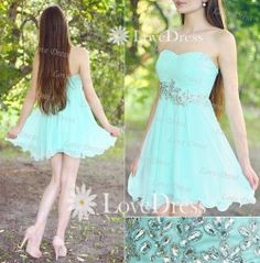 Cheap Light Blue Strapless Short Prom Dress, Homecoming Dress, Cocktail Dress 2013, Party Dress on Etsy, $146.99