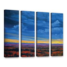 ArtWall Gene Foust's Shadow moses 4 Piece Gallery Wrapped Set