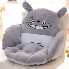 Lovely Cartoon Chair Cushion for Home Decor and Office, Thicken Seat Pad Sofa Home Decorative Pillow Car Seat Free Shippimg Totoro, Cute Cushions, Chair Cushions, Sofa Home, Seat Pads, Backrest Pillow, Animal Design, Home Textile, Decoration