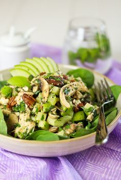 Grilled Chicken, Green Apple and Feta Salad... lovely summer salad