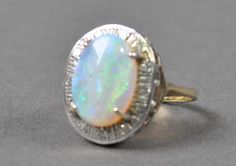 Antique Opal and Diamond Cocktail