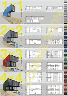 Four container home options //
