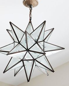 """Ceiling light (""""Superior Moravian Star Light""""): Shades of Light, shadesoflight.com......19""""....$295...... SKU: LA0304D ZF"""