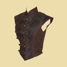 Reinforced jerkin for women made of leather por Larperlei en Etsy