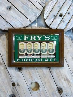 Original Fry's Advertising Mirror - Stock - Woody's Antiques, Decorative Furniture and Objects