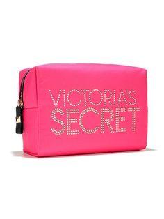 Porta Cosmético Victoria Secret Raso Tachas Doradas