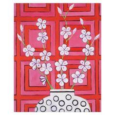 Lámina Graphic Blossom in Pink de Mariska Meijers, 36x43cm