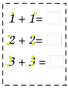 Touch math worksheets with Numbers 1-5