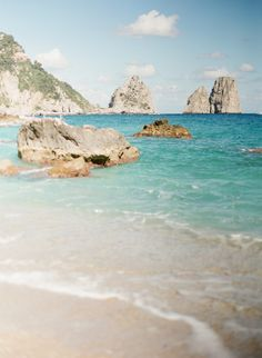 Teal Waters of Capri (via @Entouriste) #Capri #Italy #beach