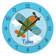 Airplane Personalized Clock