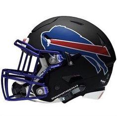 Fans also make concept helmets like this frequently Football Helmet Design, College Football Helmets, Buffalo Bills Football, Football Uniforms, New Helmet, Helmet Logo, Nfl Football Teams, Football Pics, Nfl Gear