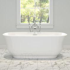 Maax 105756-000-019 Miles Freestanding Bathtub with Thunder Grey Apron