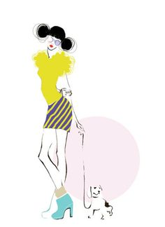 Fashion Illustration Print   Me & My Dog by studiodelafosse, €15.00