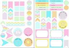 FREE Pastel Version ,slightly baby themed Labels from Scrappystickyinkymess