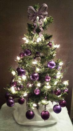 My Mini Purple Christmas Tree (CFJ)
