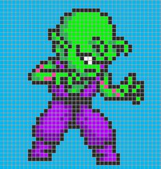 Piccolo - Dragon Ball perler bead pattern