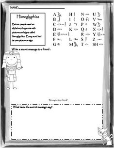 Worksheets Hieroglyphics Worksheet engage your students into ancient egypt with this pun tastic is a sample page from my pack on a