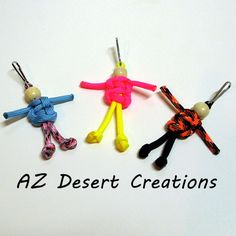 They are cute!!!! Paracord Buddies Set of Three Survival Buddies with Lanyard Clips