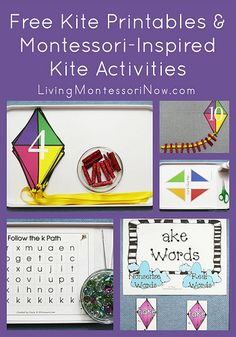 Free Kite Printables and Montessori-Inspired Kite Activities