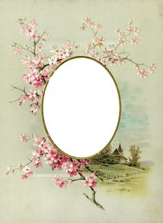 Oval frame from picture album w/pink
