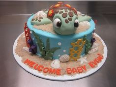 Finding Nemo cake for my baby Evan! Thanks Elemakescakes!!!!