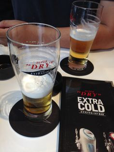 I'm drinking a beer with friends in Nagoya today.