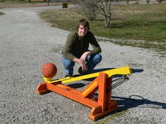 Kreg jig built catapult You and the kids and Dad could have great fun with this!!!!