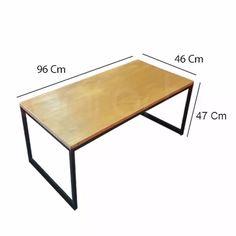 mesa ratona puente p/ puff diseño industrial hierro y madera