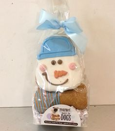 Dog Cookies- Winter Snowman from Bosco and Roxy's