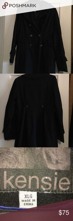 NWOT beautiful and classic Peacoat. Never worn. Such a classic style. Never worn, but has been in the closet for years.... Just a bit dusty. Kensie Jackets & Coats Pea Coats